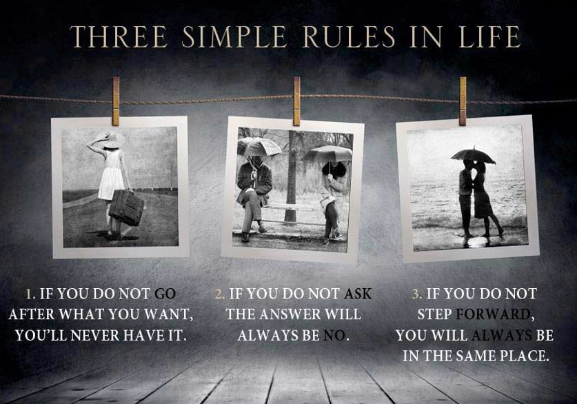 Inspirational Thoughts About Life Simple Rulesforgoodandhappylifethreesimplerulesmotivationaland