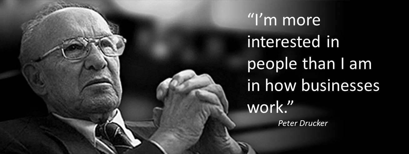 peter drucker on knowledge workers management What do managers do one good answer to this question comes from the late peter drucker, whose name that stands out above all others in the century-long history of management studies a native of vienna, austria, mr drucker was an intellectual who worked as a journalist and studied economics.